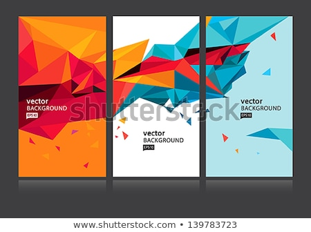 Colorful Abstract Triangle Symbol Of Letter A Vector Illustration