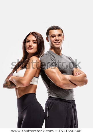 Portrait of a young muscular man Stock photo © konradbak