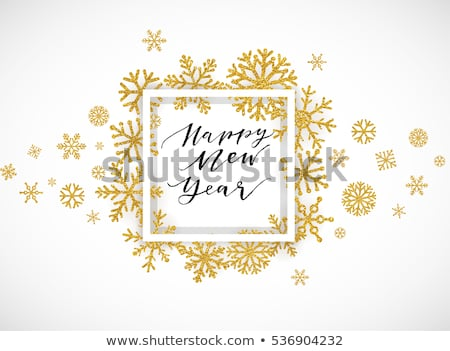Shine golden snowflakes. EPS 10 Stock photo © beholdereye