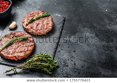 Stockfoto: Grilled Beef Burger Patty