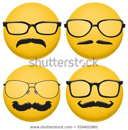 Stock fotó: Különböző · stílusok · szemüveg · citromsárga · labda · illusztráció