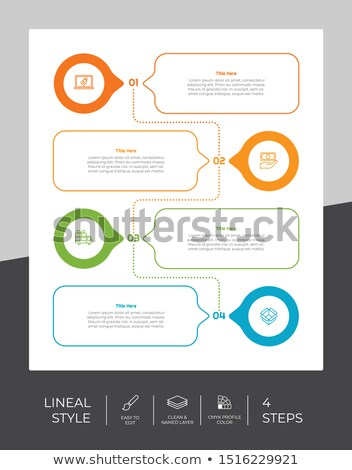 Yaratıcı grafik renkler adımlar bilgi Stok fotoğraf © SArts