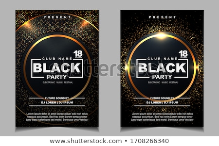 electro night club party flyer poster template Stock photo © SArts