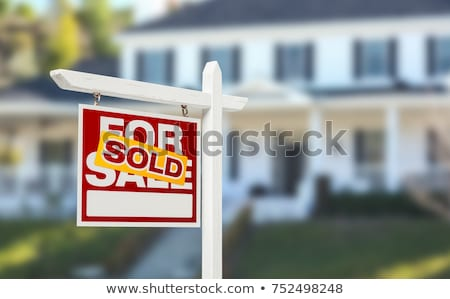 Rood · groene · onroerend · huis · icon · geïsoleerd - stockfoto © anatolym