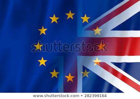 イギリス ヨーロッパの 組合 フラグ フラグ 金融 ストックフォト © SArts