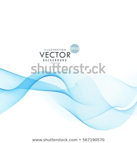 stylish blue wave blending together design Stock photo © SArts