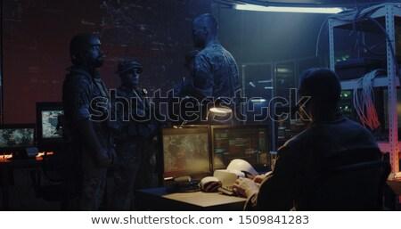 Squad modern cyber soldier Stock photo © studiostoks