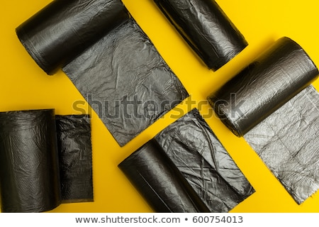 Rolls of blue and  black plastic garbage bags Stock photo © digitalr