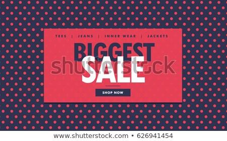販売 バウチャー デザイン 赤 抽象的な ショップ ストックフォト © SArts