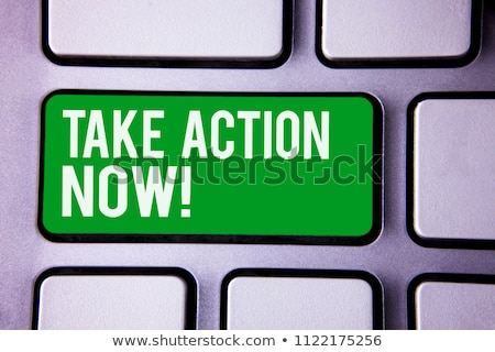 Computer keyboard action now #2 Stock photo © Oakozhan