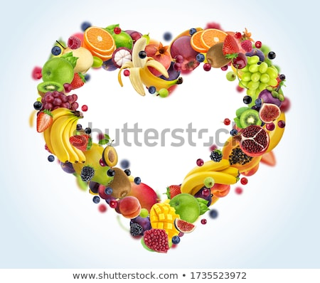Coração saudável belo coração símbolos alimentação saudável Foto stock © Tefi
