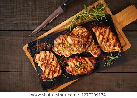 szeletel · disznóhús · vesepecsenye · nyers · friss - stock fotó © Digifoodstock