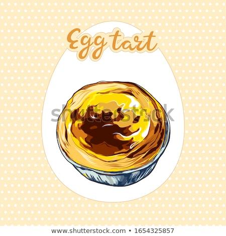 Egg Tart Stock photo © devon