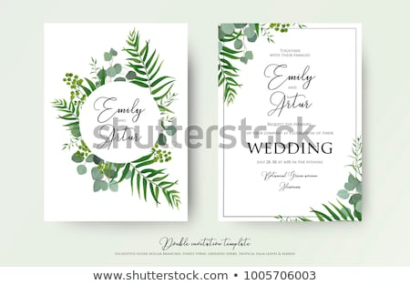 Elegant Wedding Invitation Design Template Stock photo © reftel