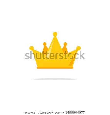 Vector flat style illustration of golden crowns.  Stock photo © curiosity