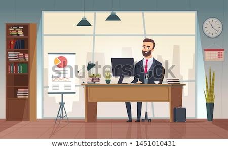 Oficina director muebles establecer aislado Foto stock © anyunoff