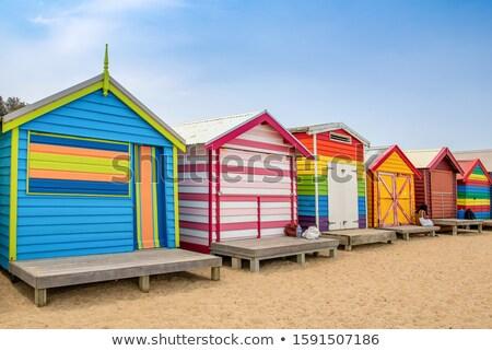 Colorato legno sabbia home blu Foto d'archivio © wavebreak_media