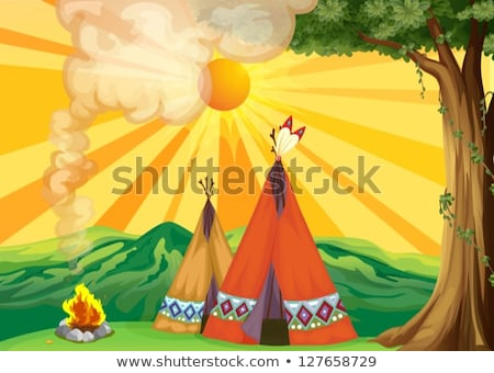 Two native indians at the camp Stock photo © bluering