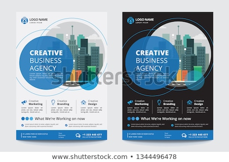 Modern corporate business flyer layout template Stock photo © reftel
