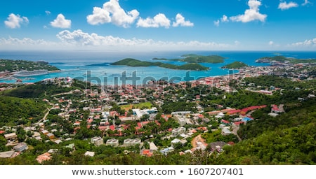 Town of Charlotte Amalie and  Harbor Stock photo © backyardproductions