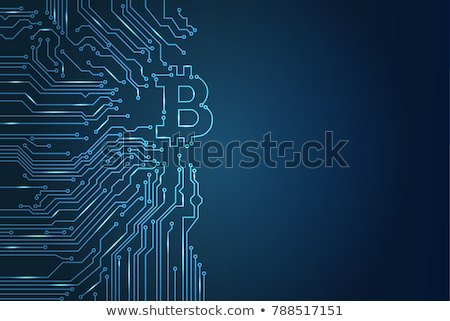 digital bitcoin crypto currency vector background stock photo © sarts