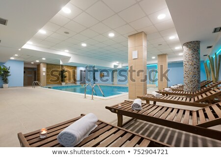 Interior of an empty modern sauna in a hotel or in a spa and wel Stock photo © Kzenon