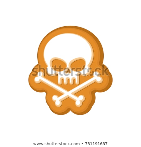 Foto d'archivio: Halloween Cookie Skull Cookies For Terrible Holiday Vector Ill