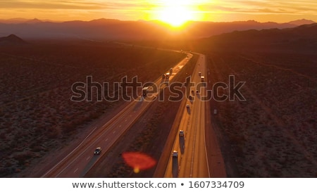 Car in vast barren landscape Stock photo © IS2