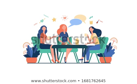 Girls hanging out in a cafe Stock photo © IS2