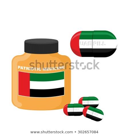 UAE patriotic pill. United Arab Emirates Capsule flag. Vector il Stock photo © popaukropa
