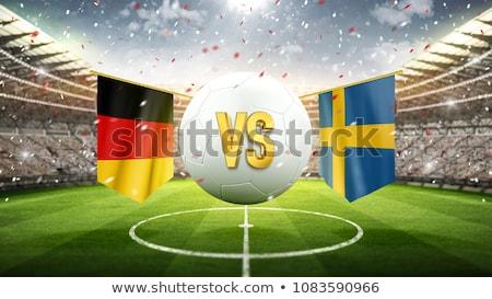 Fútbol partido Alemania vs Suecia fútbol Foto stock © Zerbor