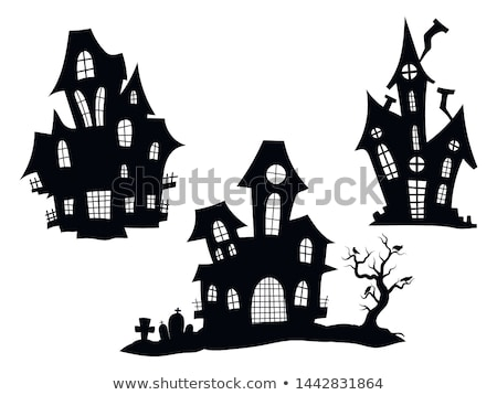 Halloween Haunted House Spooky Silhouette Stock photo © Krisdog