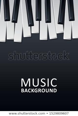 jazz · festiwal · muzyczny · ulotki · projektu · fortepian · klawiatury - zdjęcia stock © articular