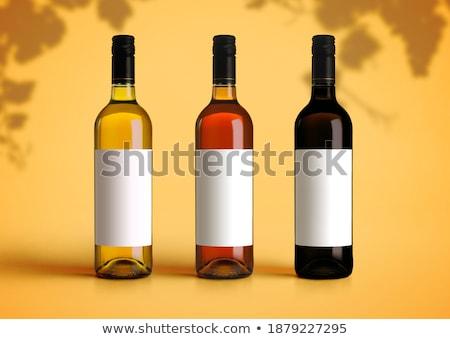 drie · glas · flessen · toiletartikelen · witte · haren - stockfoto © artjazz