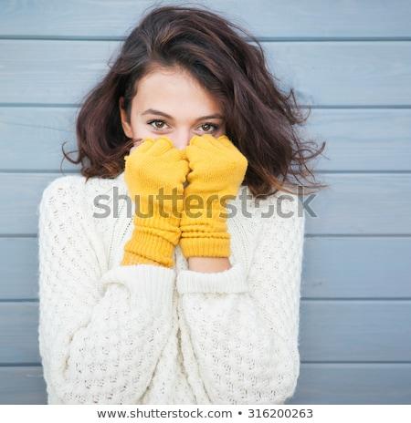 Warm knitted autumn winter dress Stock photo © Lana_M