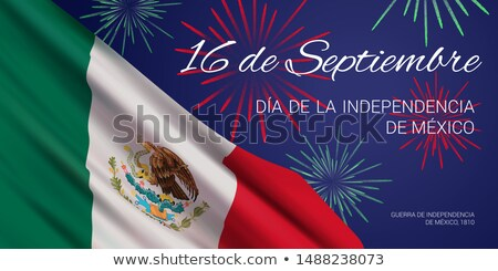 Viva Mexico Happy Independence Day Social Media Banner stock photo © SaqibStudio