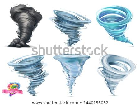 tornado · ciclone · furacão · ícone · tempo · fundo - foto stock © m_pavlov