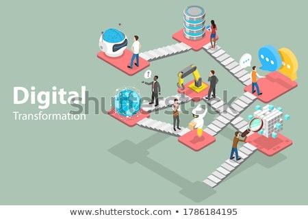 Estrategia de negocios vector crecimiento planificación financieros Foto stock © TarikVision