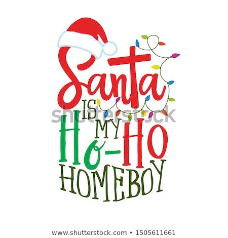 Merry Christmas My Friend.Merry Christmas My Friend Ho Ho Ho Ho Vector Illustration