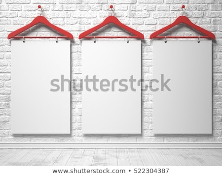 red clothes hanger with sale label 3d stock photo © djmilic