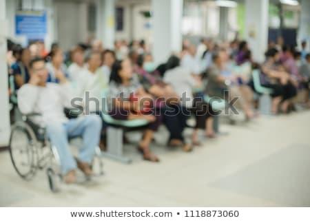 Hastane meşgul tekerlek modern bulanık Stok fotoğraf © vilevi