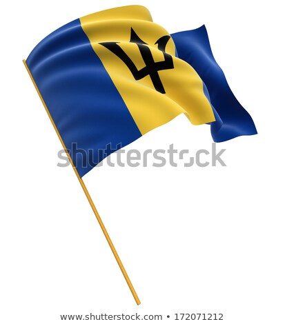 barbados flag isolated on white stock photo © daboost