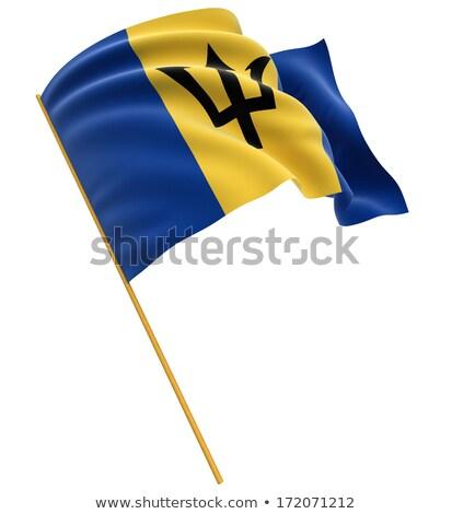 Барбадос флаг изолированный белый оказывать Сток-фото © daboost