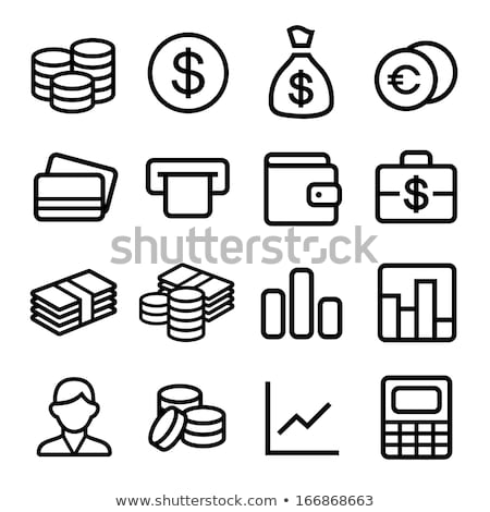 Coin stack with a calculator and dollar bills  Stock photo © Zerbor