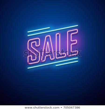 black · friday · sprzedaży · neon · zakupy · promocji · ceny - zdjęcia stock © anna_leni