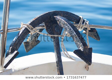 beached sailboat bow anchor detail Stock photo © lunamarina