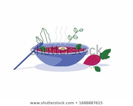 Borsch Traditional Dish Bowl Vector Illustration Stock photo © robuart