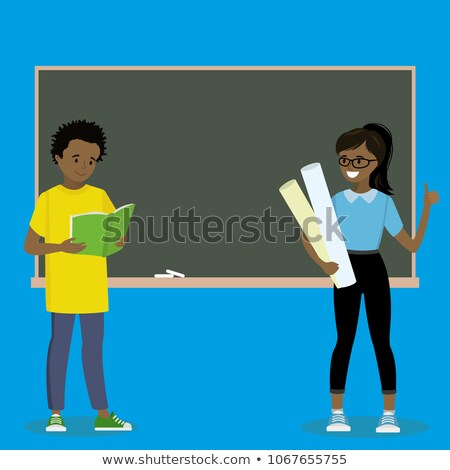 black afro american boy child kid teen vector friend clever positive person face emotions va stock photo © pikepicture