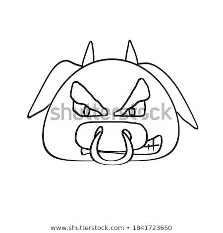 Entediado desenho animado ilustração olhando animal Foto stock © cthoman