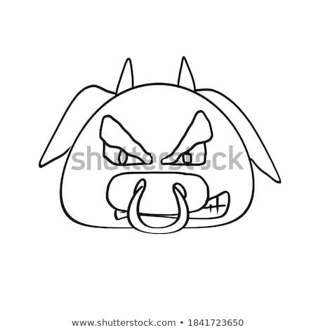 Vervelen cartoon illustratie naar dier Stockfoto © cthoman